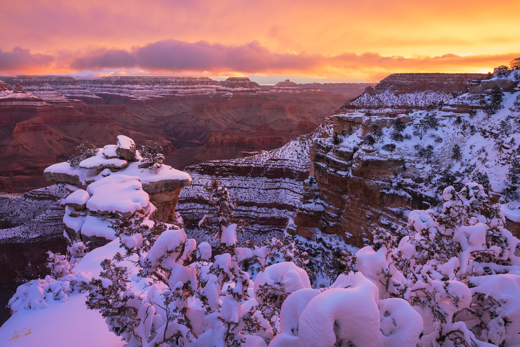 Winter Sunrise at Mather Point