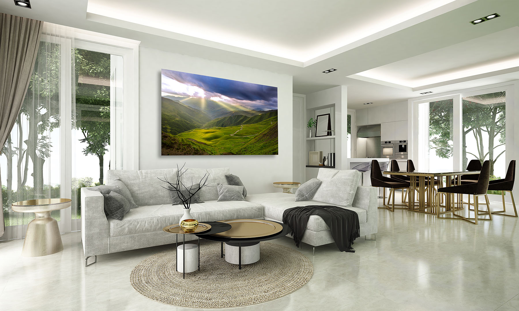 Heaven on Earth fine art print in a living room