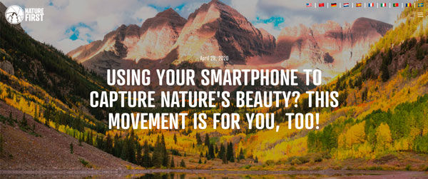 Using Your Smartphone to Capture Nature's Beauty? This Movement is for you, too!