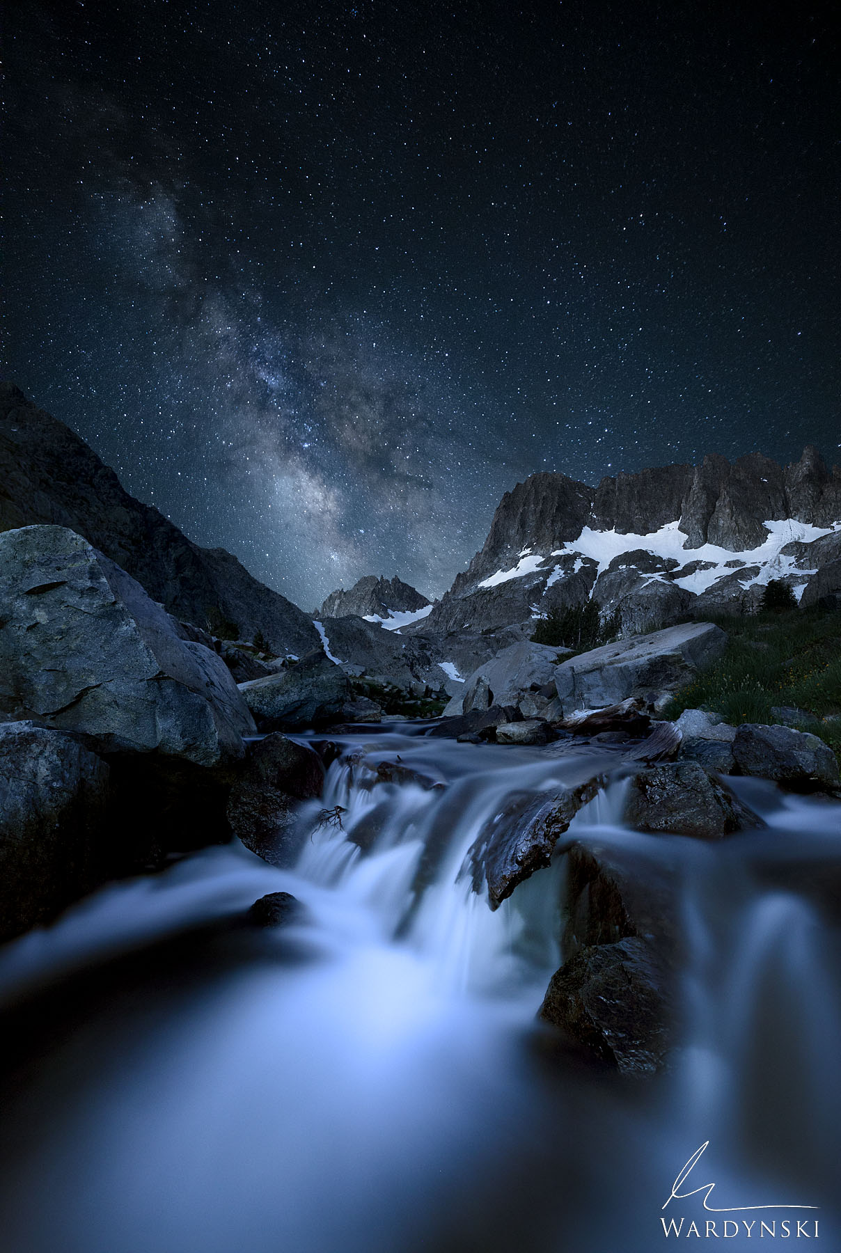 The Milky Way Rises over the Minarets in the Ansel Adams Wilderness