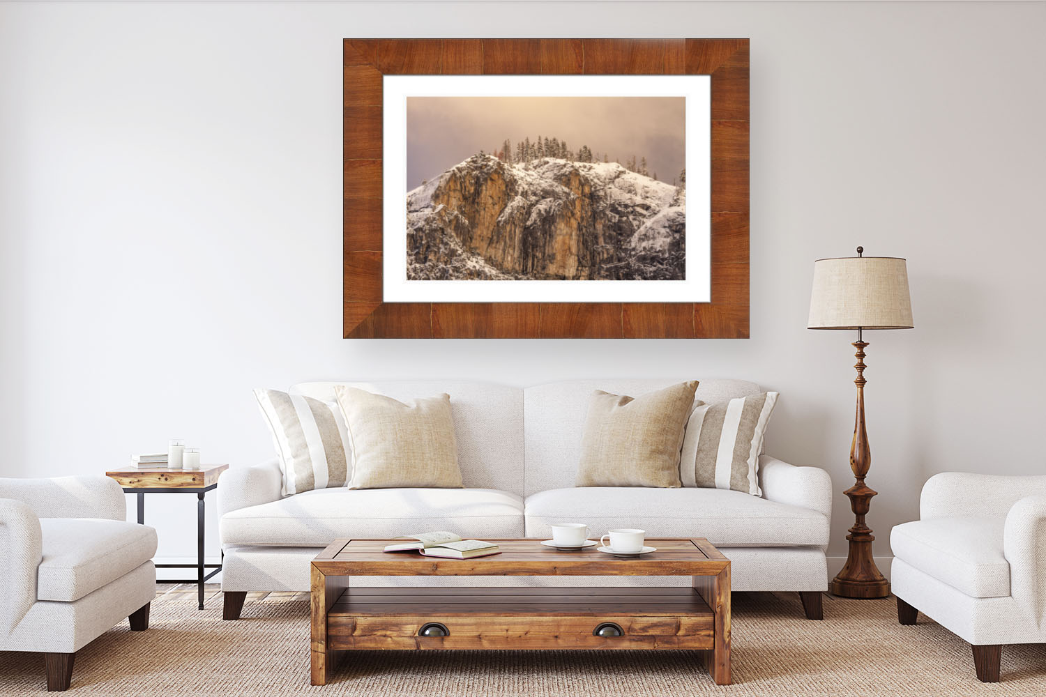 High end framed landscape photography